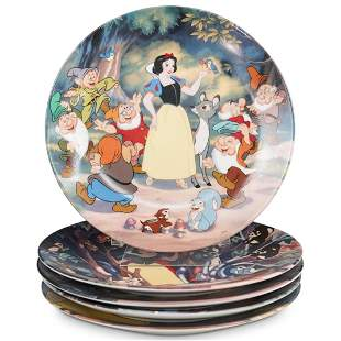 "(5 Pc) Disney ""Snow White"" Plate Set"