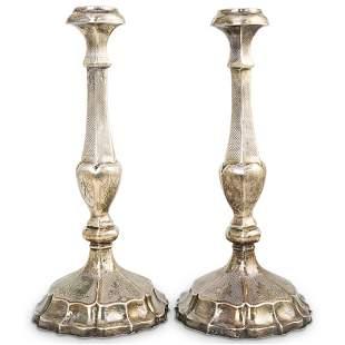 Antique Sterling Silver Candlesticks