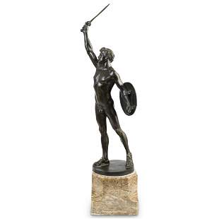"""Eug. Wagner """"Gladiator in Victory Pose"""" Bronze"""