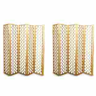 Mid Century Gold Room Dividers