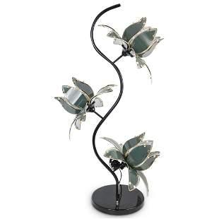 Mid Century Glass Flower Lamp
