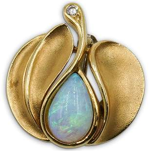 18k Gold and Opal Pendant