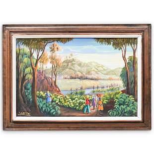 Jean Adrien Seide Oil On Canvas