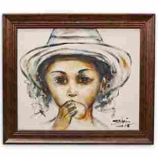 Carl Blain Oil On Canvas Painting