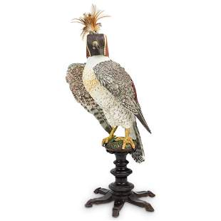 Rare Royal Falcon Porcelain Sculpture