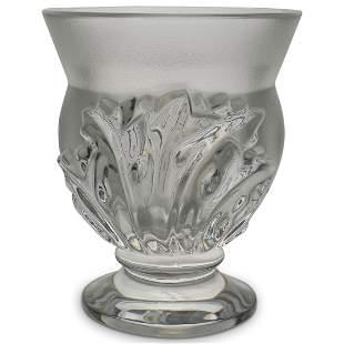 "Lalique ""Saint Cloud"" Frosted Crystal Vase"