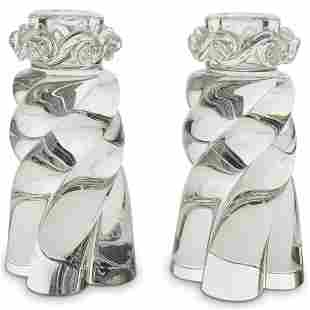 Baccarat Crystal Candlestick Holders
