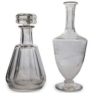 (2 Pc) Pair Of Baccarat Decanter