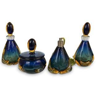 (4 Pc) Murano Glass Vanity Set