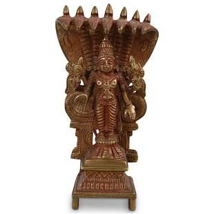 Laxmi Puja Solid Brass Statue Figurine