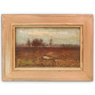 Signed Impressionist Oil on Board Painting