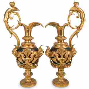 Probably Victor Paillard Dore Bronze Bronze Ewers