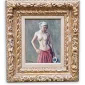 "Robert Brackman (American, 1898-1980) "" Figure Study"""
