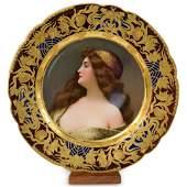 Antique Royal Vienna Porcelain Plate