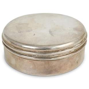 Cartier Sterling Silver Jewelry Box