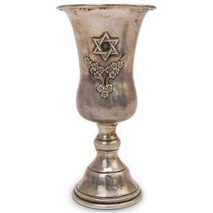 Judaica Sterling Silver Kiddush Cup