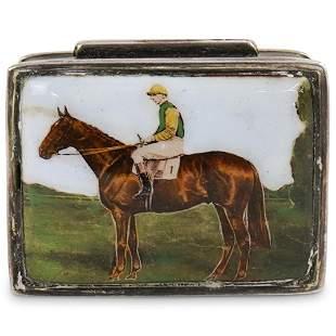 Sterling Silver & Enamel Pill Box