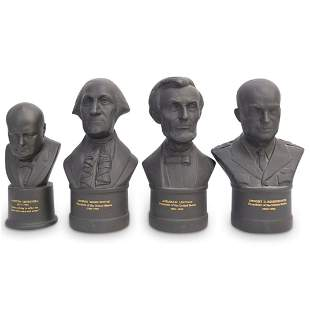 (4Pc) Wedgwood Basalt Presidential Busts