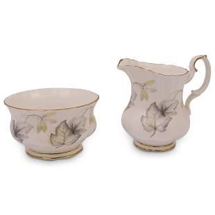 (2 Pc) English Royal Albert Fine Bone China Set