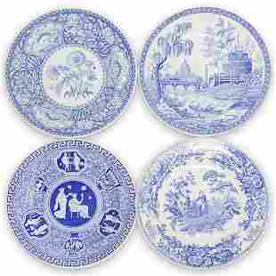 """(4 Pc) Spode """"Blue Collection"""" Plate Set"""
