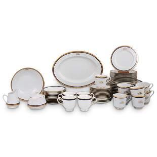 (66 Pcs) Srednick Porcelain 24k Dinnerware Set.
