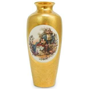 Pickard Gilt Porcelain Portrait Vase