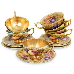 (15Pc) Aynsley Porcelain Tea Set