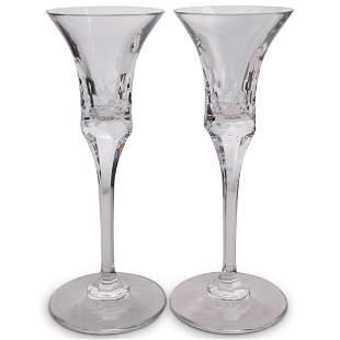 (2 Pc) Pair of Ralph Lauren Crystal Glasses