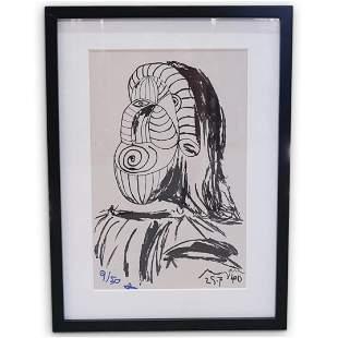 (9 Pc) Pablo Picasso Attb. (1881-1973) Retrospective