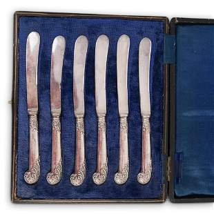 (6Pc) English Sterling Silver Spreaders
