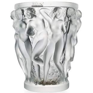 Lalique Crystal 'Bacchantes' Vase