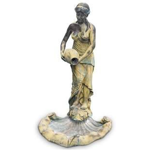 Bronze Figural Garden Fountain Statue