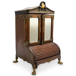 French Louis XV Miniature Secretary Inkwell