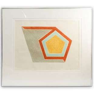 "Frank Stella (American, b. 1936) ""Ossipee"" Lithograph"