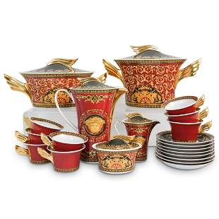 "(21 Pc) Rosenthal Versace ""Medusa"" Porcelain Coffee Set"