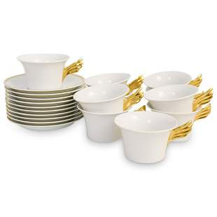"(20 Pc) Rosenthal Versace ""Medaillon Meandre D'Or"" Cup"