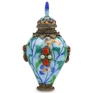 Antique Chinese Cloisonne and Enamel Snuff Bottle