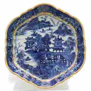18th Cent. Chinese Canton Blue and White Export