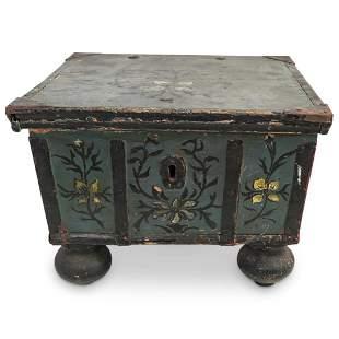 18th Century Polychrome Wood Bible Box