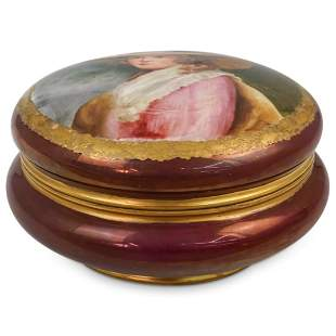 Round Porcelain Painted Box