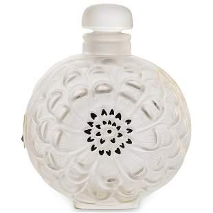 Lalique Crystal Dahlia Perfume Bottle