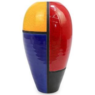 """Mid-Century """"S. Soldier"""" Multicolor Vase"""