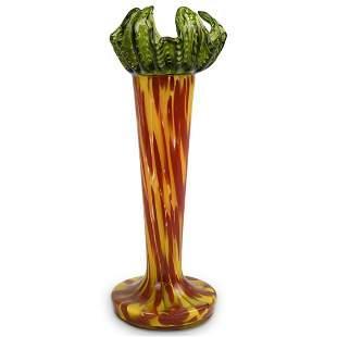 Murano Splatter Art Glass Vase
