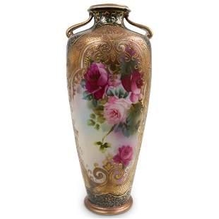 French Painted Porcelain Vase