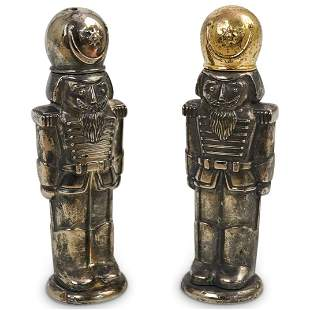 (2 Pc) Silver Plated Toy Soldiers Salt & Pepper Shakers