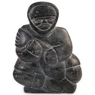 Inuit Soapstone Sculpture by Joanassie Oomayoualook