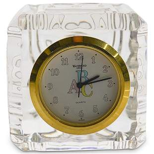 Waterford Crystal ABC Baby Block Clock