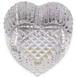 Waterford Crystal Glass Heart Paperweight