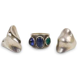 (3 Pc) Sterling Silver Ring Set