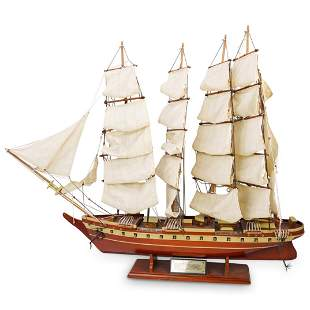 "(2pc) Wooden ""Potosi"" Model Ships"